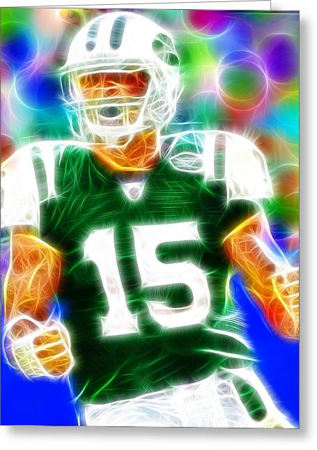 Player Drawings Greeting Cards - Magical Tim Tebow Greeting Card by Paul Van Scott