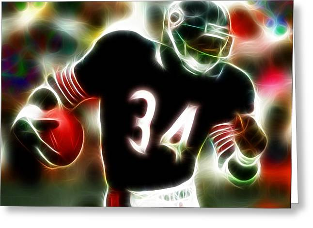 Sweetness Greeting Cards - Magical Walter Payton Greeting Card by Paul Van Scott