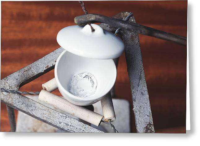 Burned Clay Greeting Cards - Magnesium Oxide Greeting Card by Andrew Lambert Photography