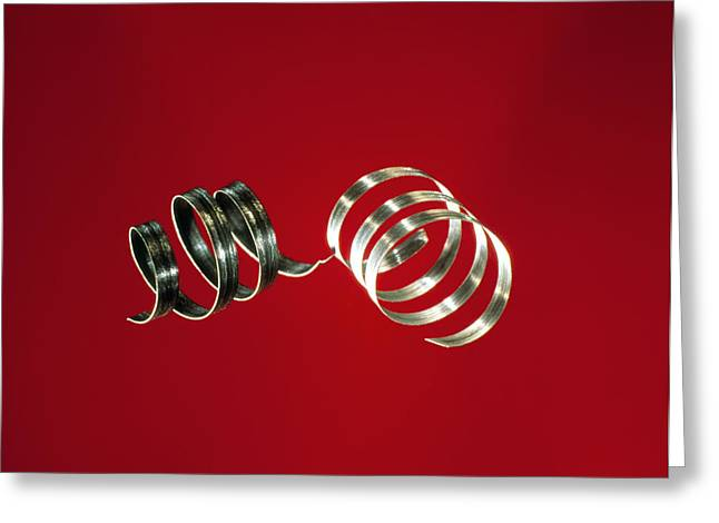 Oxide Greeting Cards - Magnesium Ribbons Greeting Card by Andrew Lambert Photography