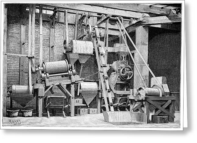 Annual Volume Greeting Cards - Magnetic Ore Separator, 19th Century Greeting Card by