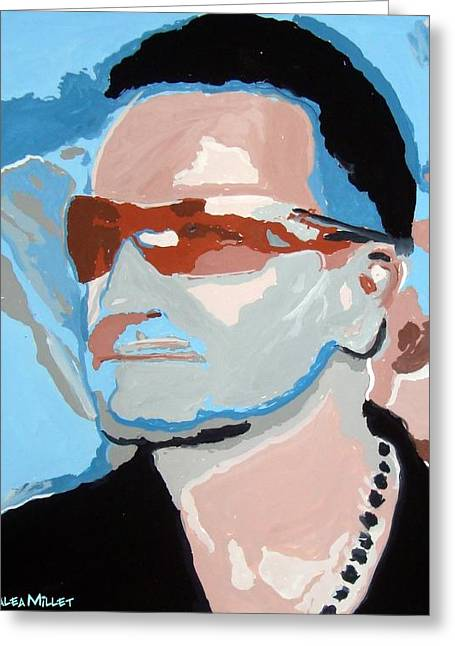 U2 Paintings Greeting Cards - Magnificent Greeting Card by Azalea Millet
