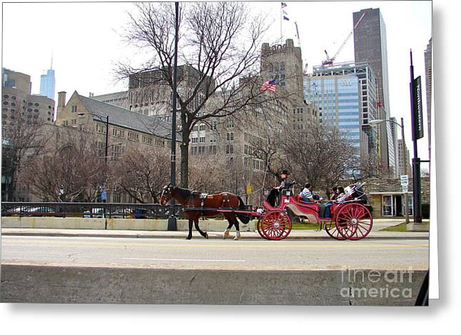 Magnificent Mile Greeting Cards - Magnificent Carriage Mile Greeting Card by Carl Eggerson