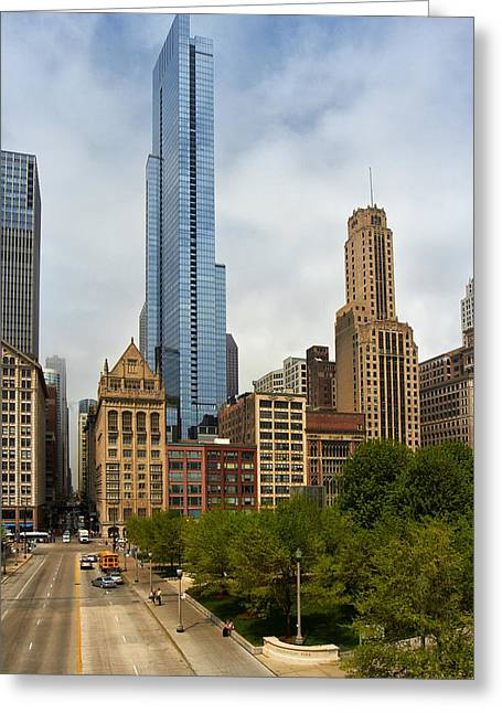 Magnificent Mile Greeting Cards - Magnificent Mile Chicago Greeting Card by Slava Shamanoff