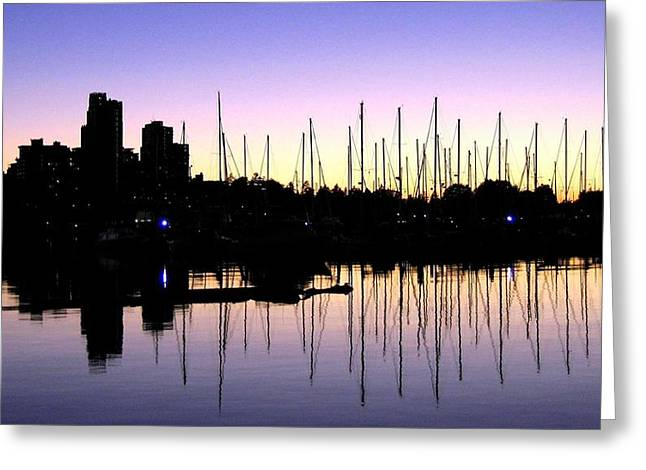 Sailboat Images Greeting Cards - Magnificent Vancouver Sunset Greeting Card by Will Borden