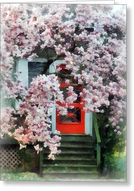 Door Greeting Cards - Magnolia by Red Door Greeting Card by Susan Savad