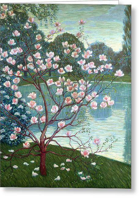 Listed Greeting Cards - Magnolia Greeting Card by Wilhelm List