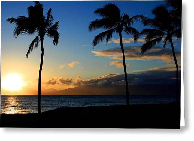 Sensational Greeting Cards - Mai ka aina Mai ke kai Kaanapali Maui Hawaii Greeting Card by Sharon Mau