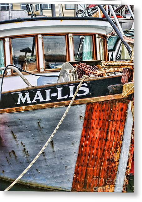 Mai-lis Tug-hdr Greeting Card by Randy Harris