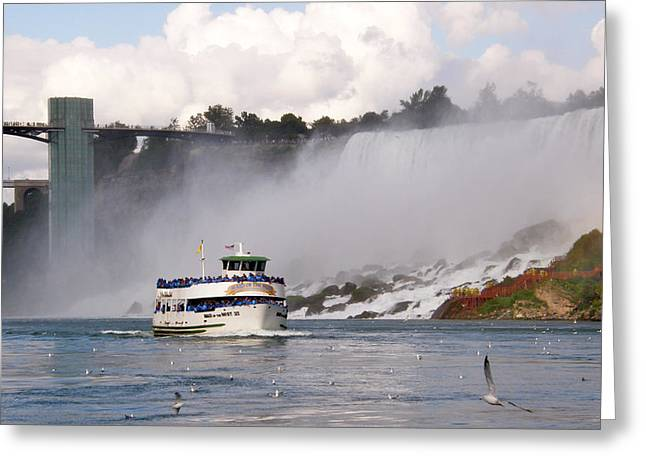 Maid of the Mist at Niagara Falls Greeting Card by Mark J Seefeldt