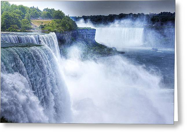 Heart Of Waterfalls Greeting Cards - Maid of the Mist Greeting Card by William Fields