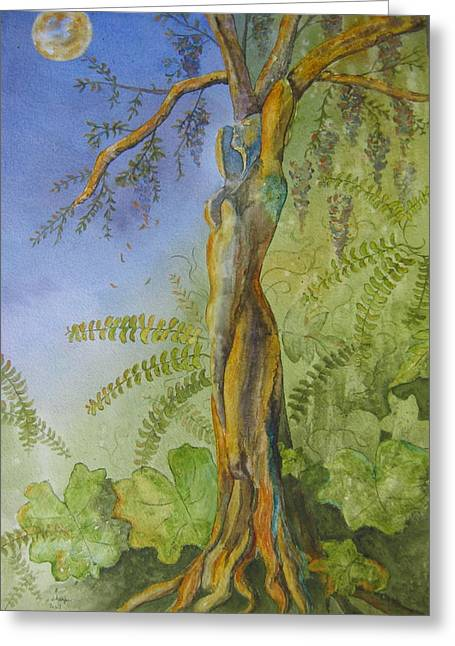 Patsy Sharpe Paintings Greeting Cards - Maiden - Earth Mother IV   Greeting Card by Patsy Sharpe