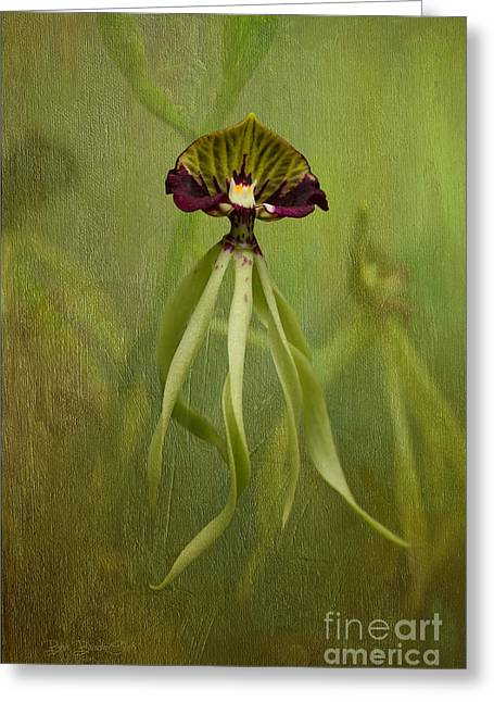 Orchids Digital Art Greeting Cards - Maiden Voyage Greeting Card by Reflective Moment Photography And Digital Art Images