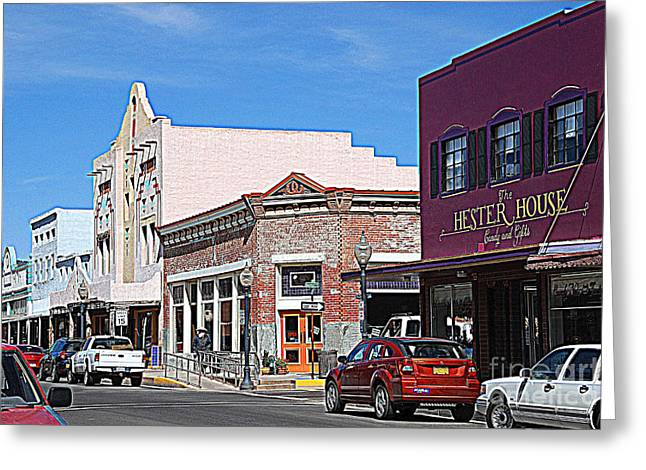 Silver City Greeting Cards - Main Street in Silver City NM Greeting Card by Susanne Van Hulst