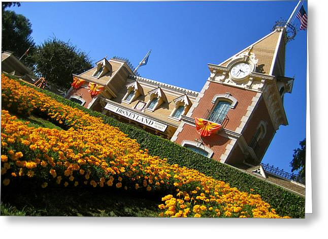 Disney California Adventure Park Greeting Cards - Main Street Station Greeting Card by Jon Berry