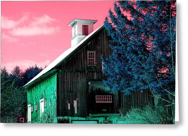 Maine Barn Greeting Card by Marie Jamieson