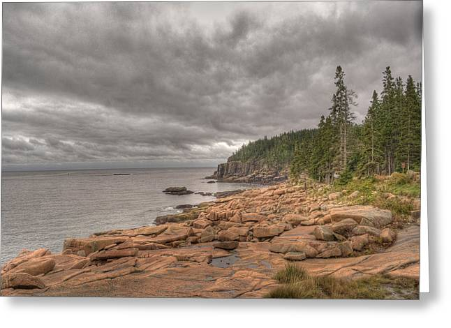 Maine Landscape Greeting Cards - Maine Coastline. Acadia National Park Greeting Card by Juli Scalzi