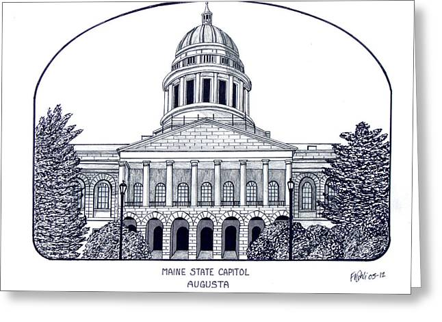 Historic Buildings Greeting Cards - Maine Greeting Card by Frederic Kohli