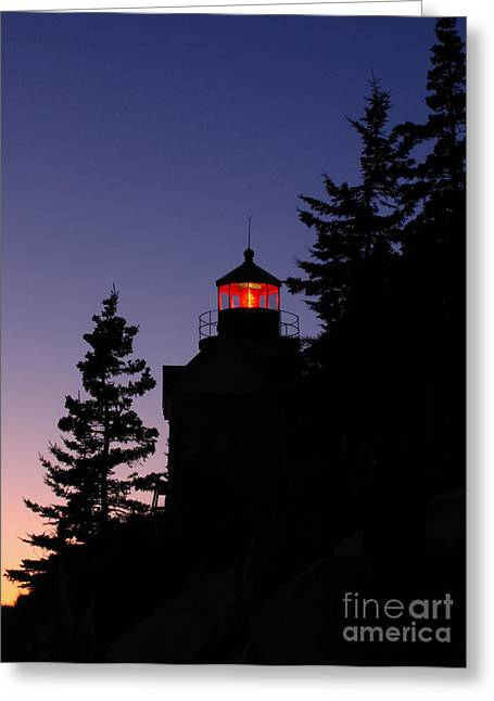 New England Lighthouse Greeting Cards - Maine Lighthouse Greeting Card by Juergen Roth