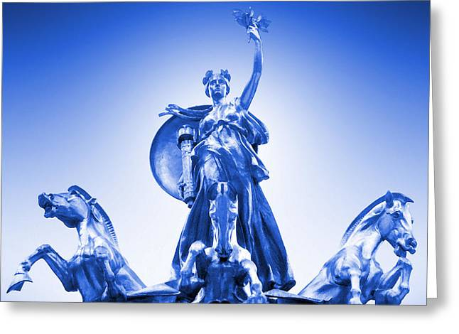 Maine Monument  In Blue Greeting Card by Mike McGlothlen