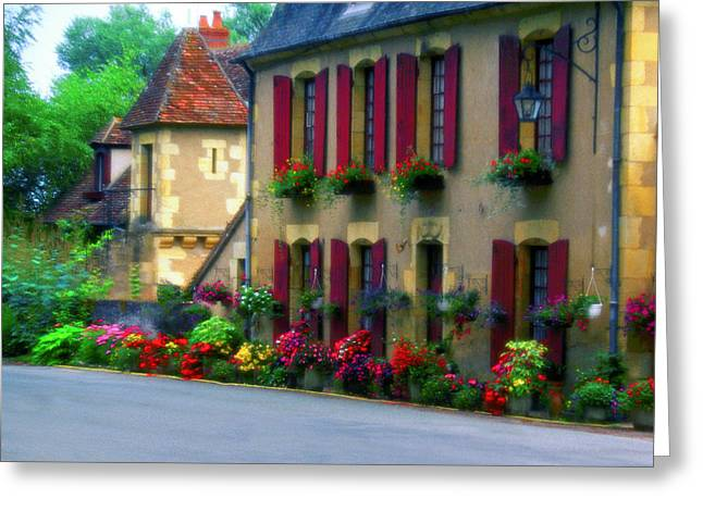 Burgundy Digital Art Greeting Cards - Maison du Burgundy Greeting Card by John Galbo