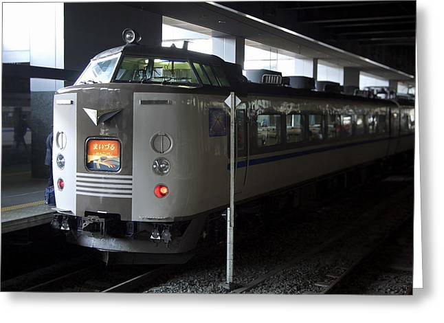 Electric Train Greeting Cards - Maizuru Electric Train - Kyoto Japan Greeting Card by Daniel Hagerman
