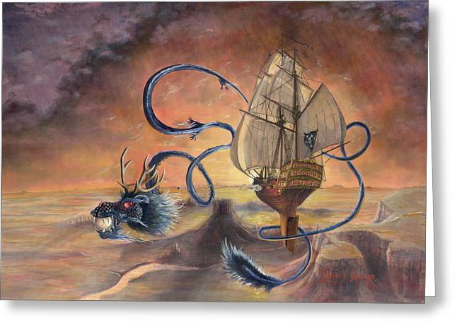Pirates Paintings Greeting Cards - Majestic Accord Greeting Card by Jeff Brimley
