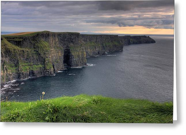 Canon 7d Greeting Cards - Majestic Cliffs of Moher co. Clare Ireland Greeting Card by Pierre Leclerc Photography