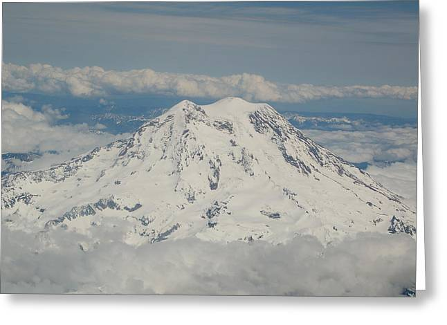 Angels Breath Greeting Cards - Majestic Mount Raineir Greeting Card by Paradise