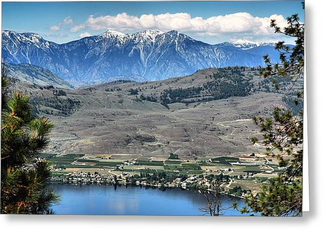 North Fork Digital Greeting Cards - Majestic Mountains overlook Osoyoos Greeting Card by Don Mann