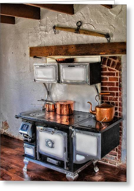 Teakettles Greeting Cards - Majestic Stove No. 1 Greeting Card by Susan Candelario