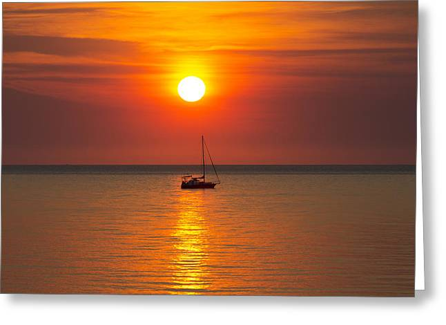 Top-end Greeting Cards - Majestic Sunset V2 Greeting Card by Douglas Barnard