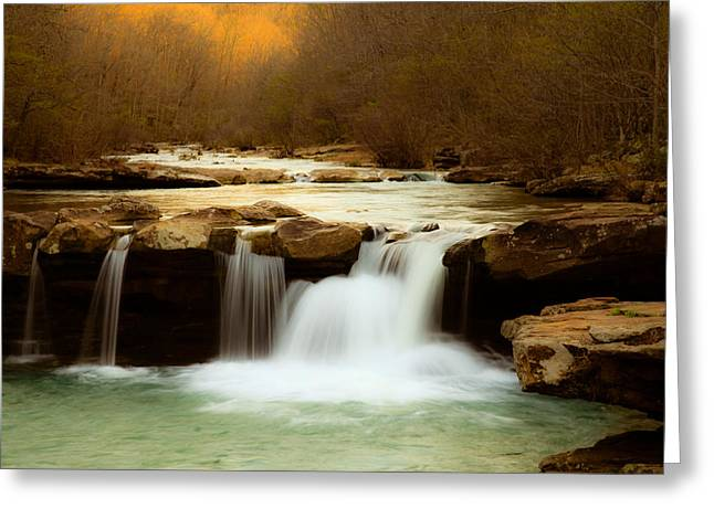 Arkansas Greeting Cards - Majestic Waterfalls Greeting Card by Iris Greenwell
