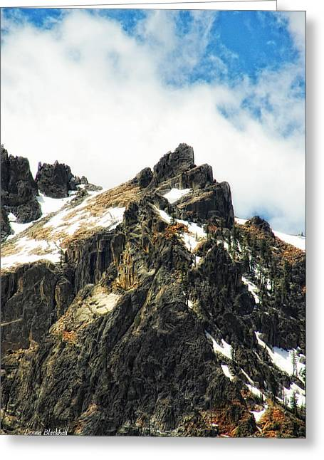 Snow Capped Greeting Cards - Majesty Greeting Card by Donna Blackhall