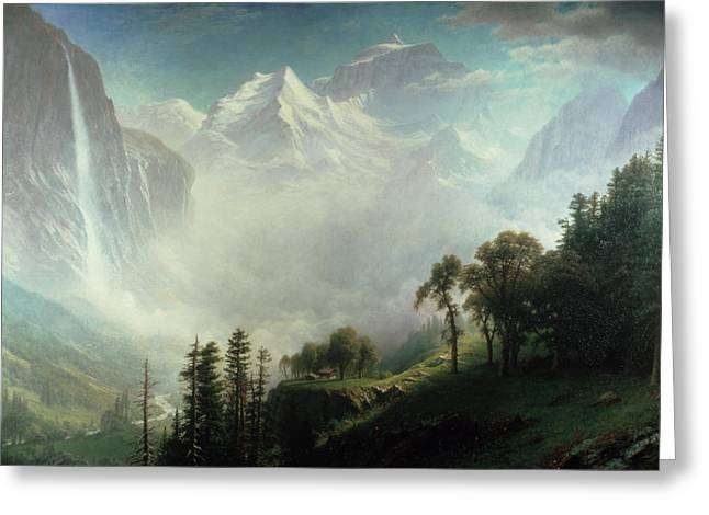 Majesty of the Mountains Greeting Card by Albert Bierstadt