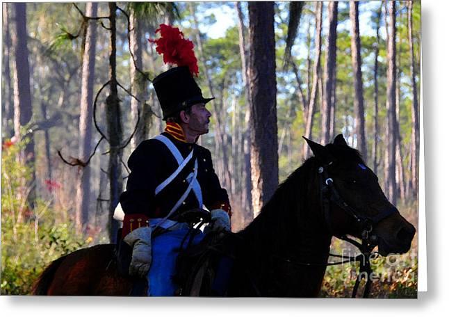 Battlefield Site Digital Art Greeting Cards - Major Francis L. Dade 1835 Greeting Card by David Lee Thompson