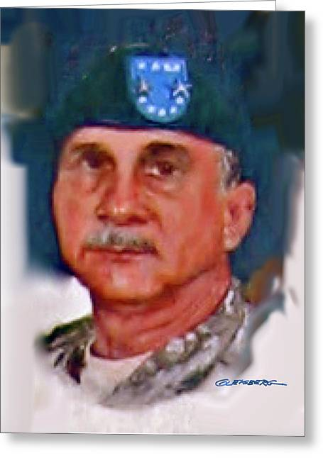 Major General Greeting Cards - Major General William H. Wade II Greeting Card by Dean Gleisberg