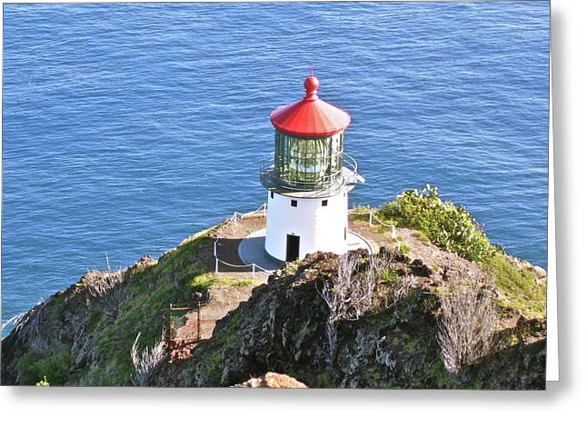 Faro Greeting Cards - Makapuu Lighthouse 1065 Greeting Card by Michael Peychich