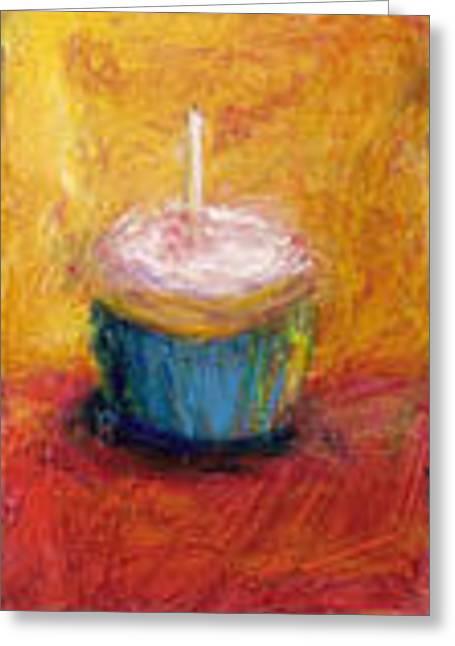 Cupcake Art Greeting Cards - Make A Wish Greeting Card by Jeannine Luke