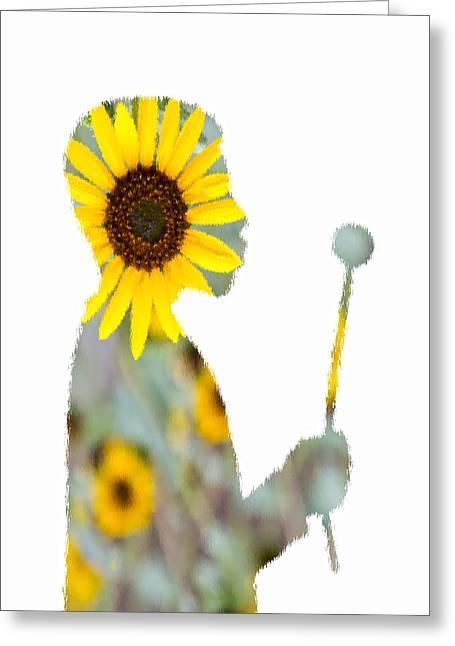 Brown Eye Susan Greeting Cards - Make A Wish Sunlover Greeting Card by Angelina Vick