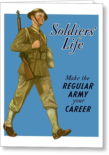 Wwii Photographs Greeting Cards - Make The Regular Army Your Career Greeting Card by War Is Hell Store