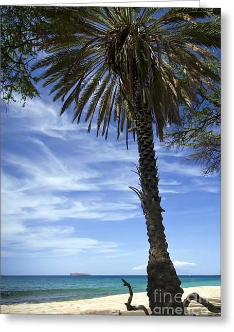 Makena Greeting Cards - Makena Beach and Molokini Greeting Card by Dustin K Ryan