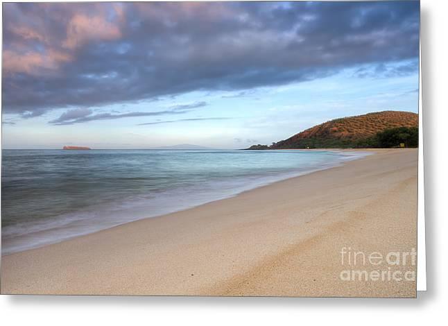 Makena Greeting Cards - Makena Beach Sunrise Hawaii Greeting Card by Dustin K Ryan