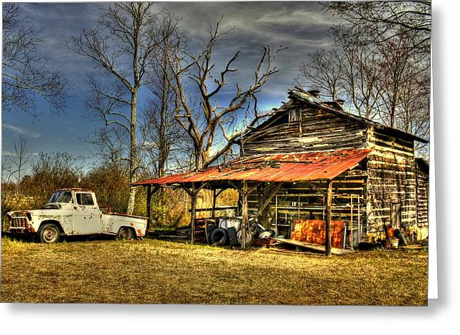 Rusty Tin Roof Greeting Cards - Makes Me Wanna Take A Back Road Greeting Card by Benanne Stiens