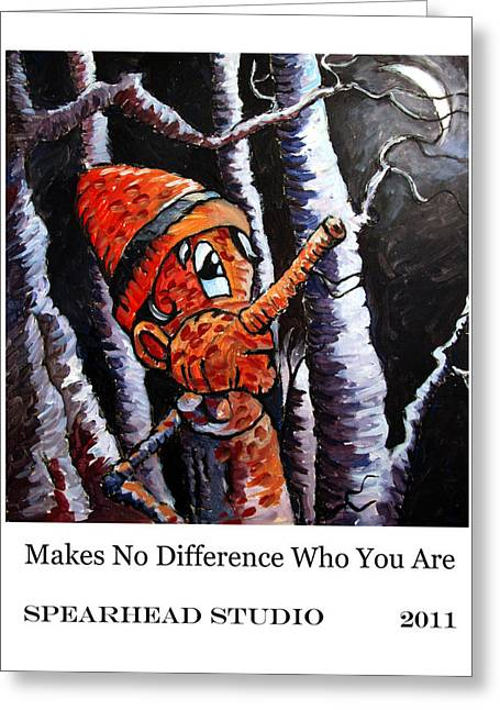 Pull Digital Art Greeting Cards - MAKES NO DIFFERENCE WHO YOU ARE poster Greeting Card by Charlie Spear
