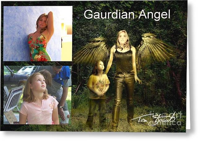Paranormal Digital Art Greeting Cards - making Guardian Angel Greeting Card by Tom Straub