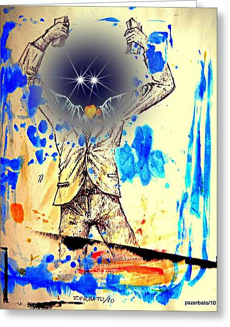 Ambition Mixed Media Greeting Cards - Making Money Greeting Card by Paulo Zerbato