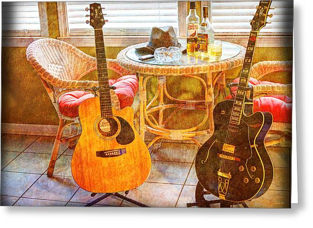 Acoustical Digital Art Greeting Cards - Making Music 004 Greeting Card by Barry Jones