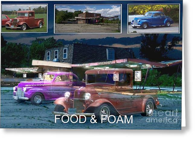 Paranormal Digital Art Greeting Cards - Making of Food and Foam Greeting Card by Tom Straub
