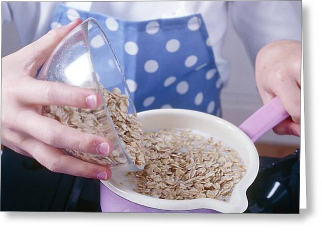 Making Porridge From Oats Greeting Card by Veronique Leplat